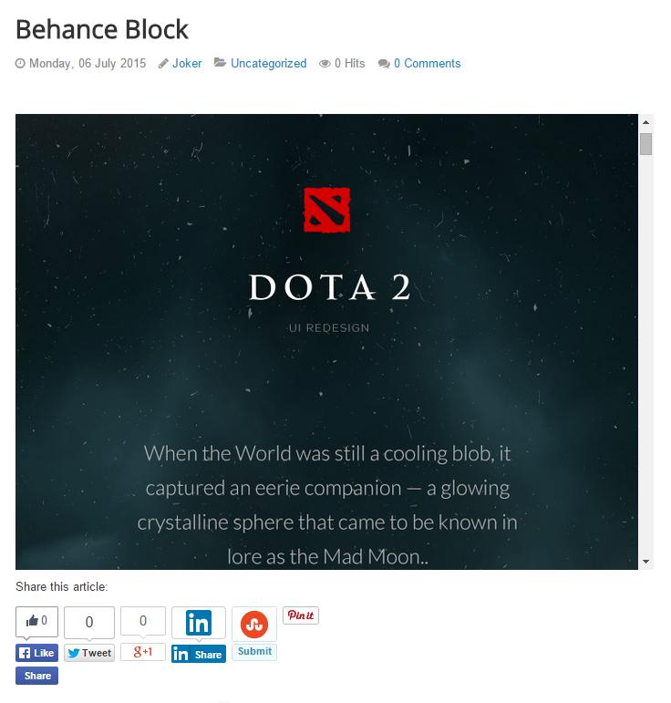 Behance Block