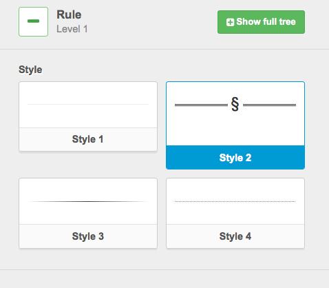 Rule Block Styles