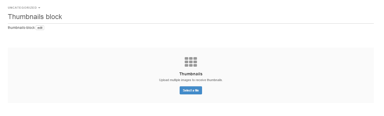 Thumbnails block