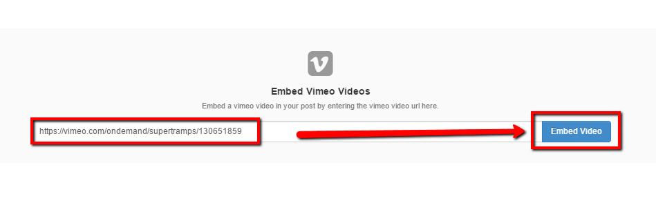 Vimeo Block