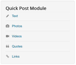 Quick Post Module