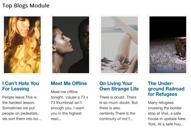 Top Blogs Module