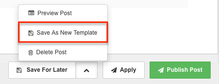 Create A Post Templates
