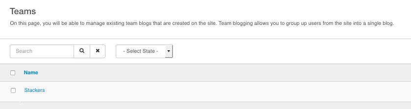 Team Blogs List