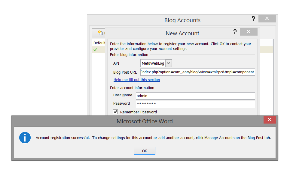Microsoft Word Remote Publishing
