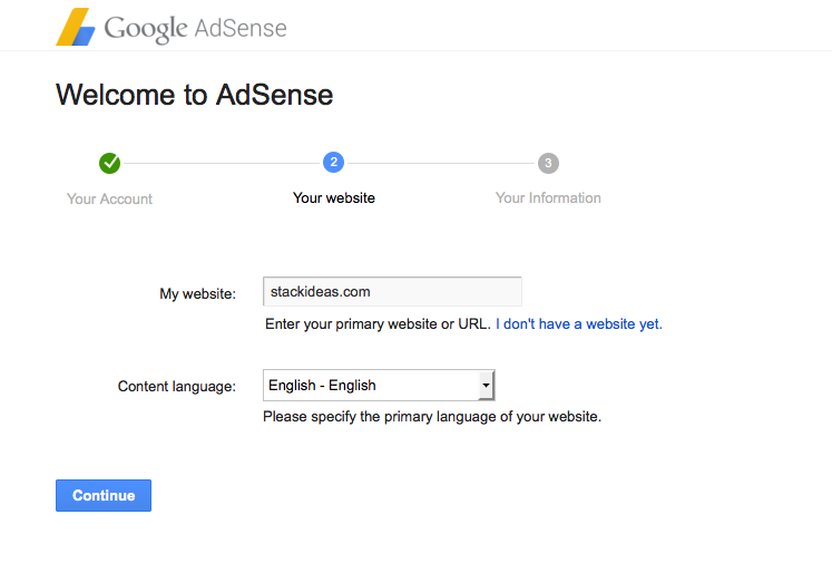 Google Adsense Registration