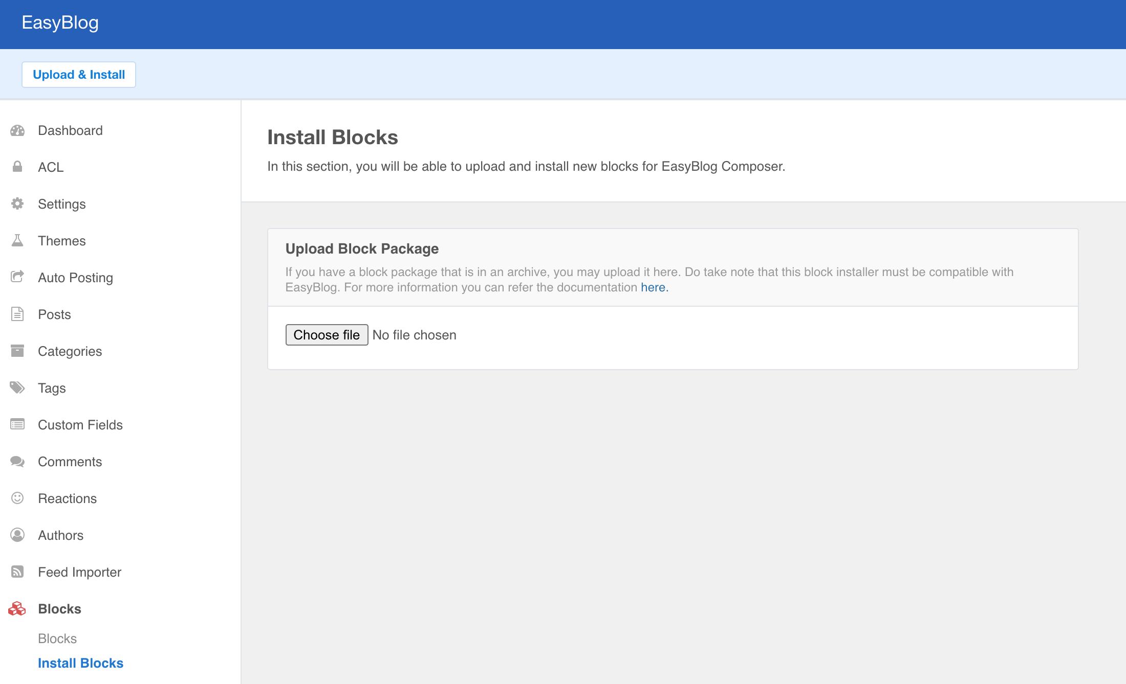 Install Block