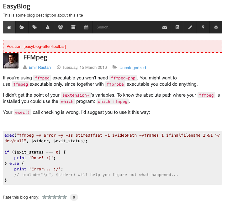 Setting Custom Joomla Module Position