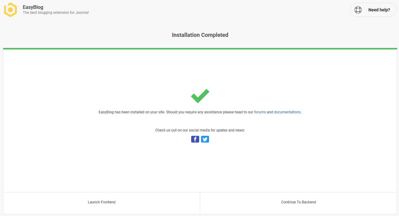 EasyBlog Installation