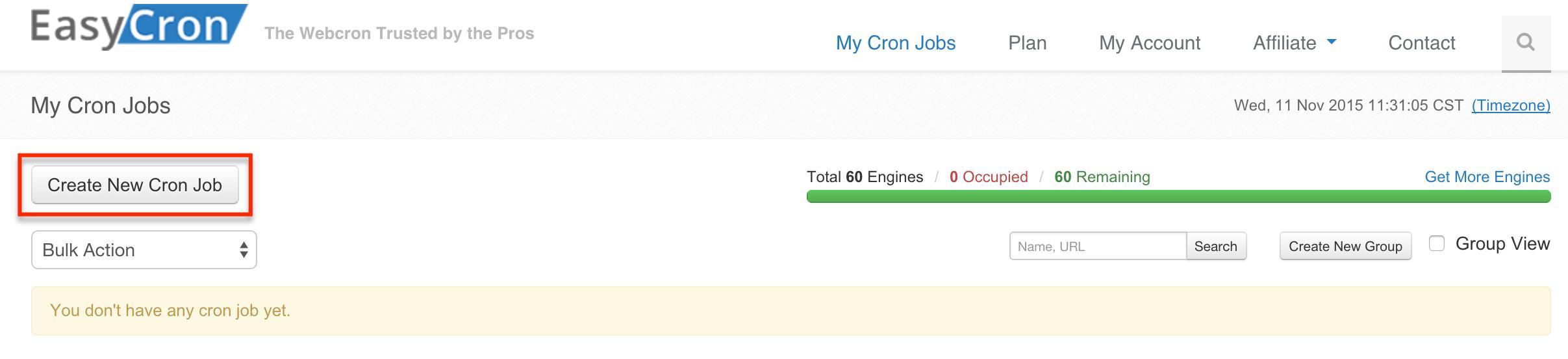 EasyCron Cronjobs