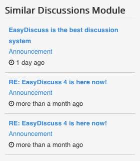 Similar Discussions Module