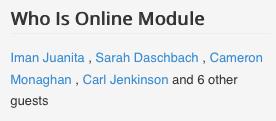 Who Is Online Module