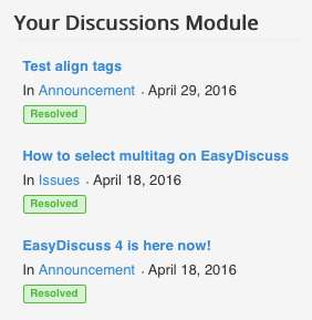 Your Discussion Module