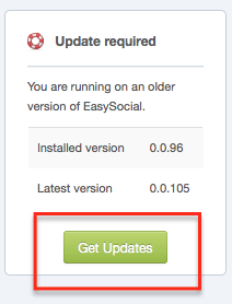EasySocial Outdated