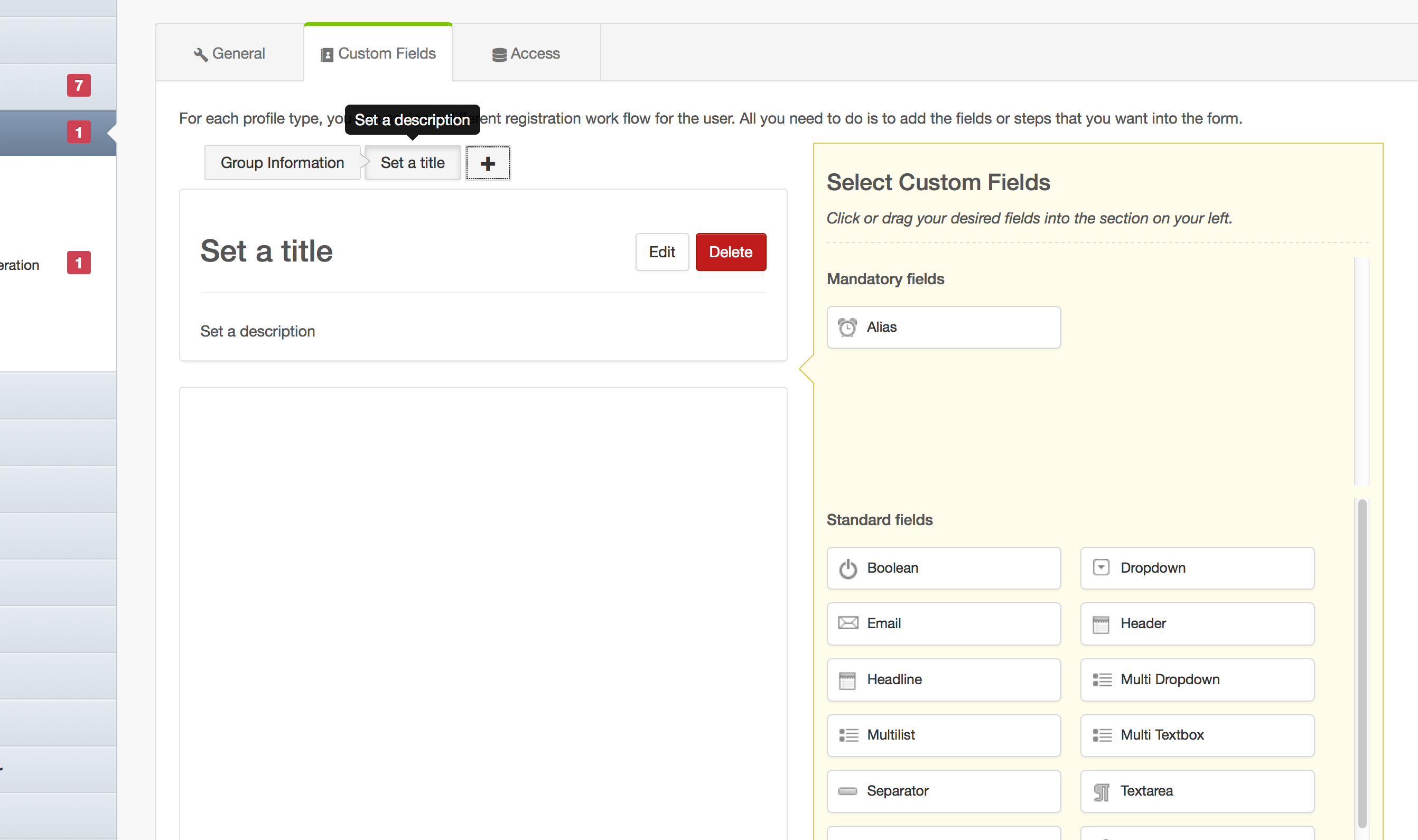 Create New Step for Group Categories in EasySocial