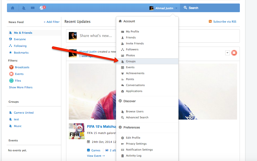Group Moderation in EasySocial
