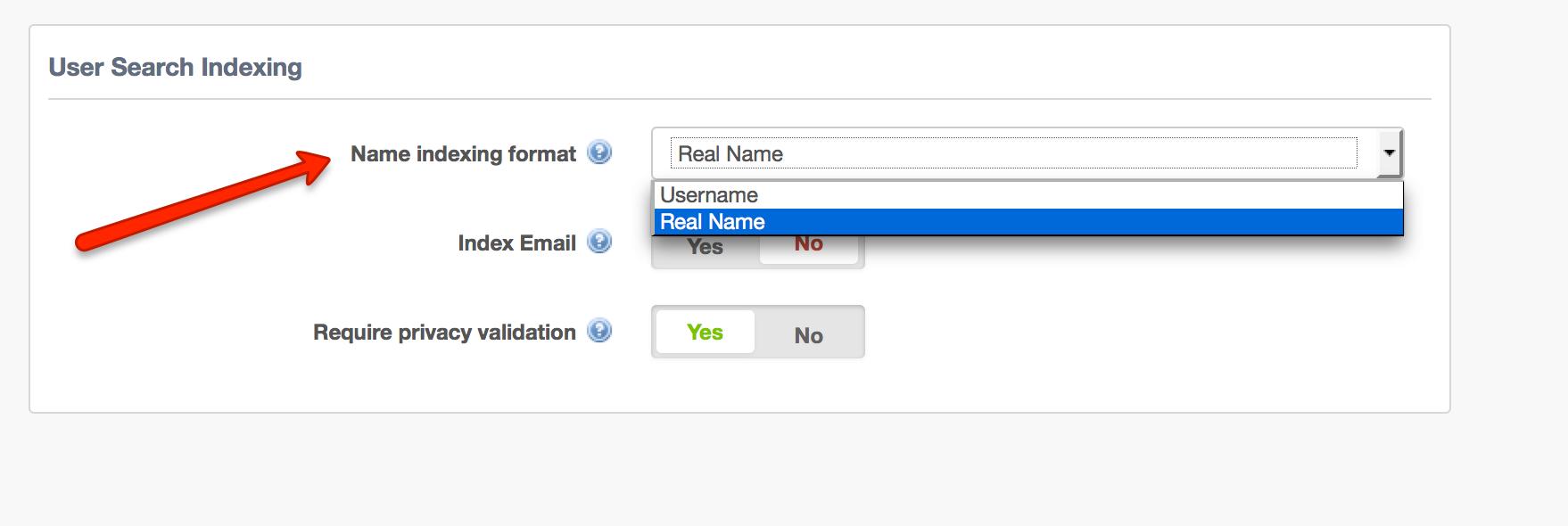 Configuring User Search Behavior