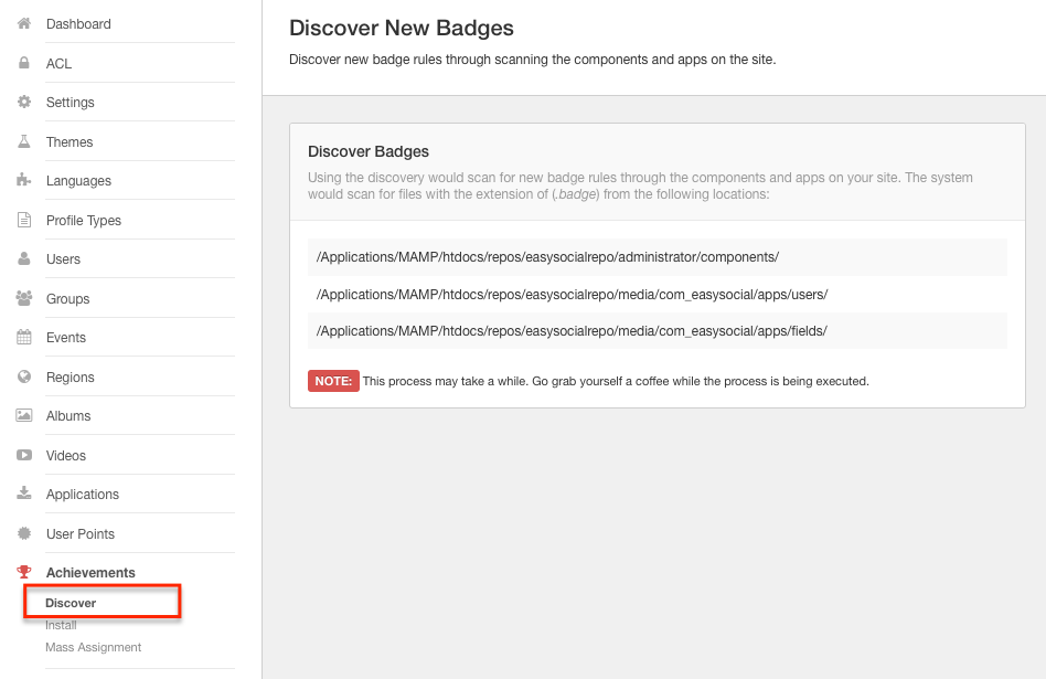 Discover Badges in EasySocial