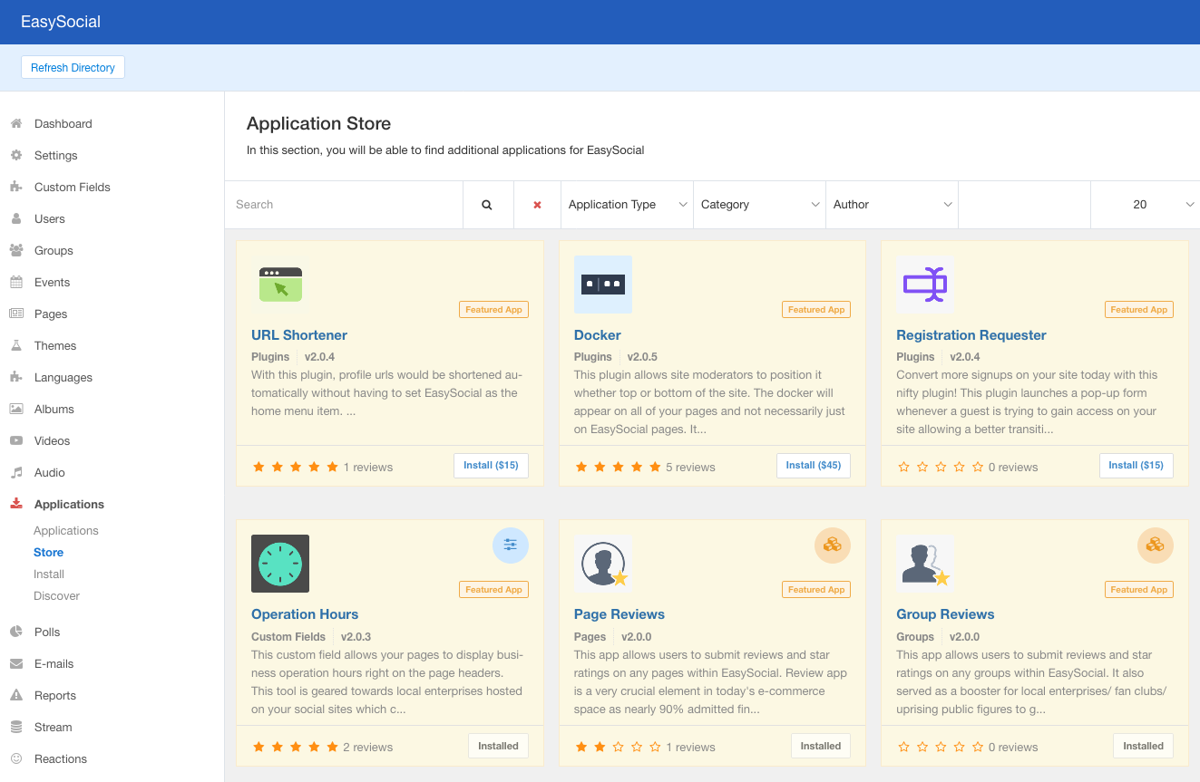 Apps Store