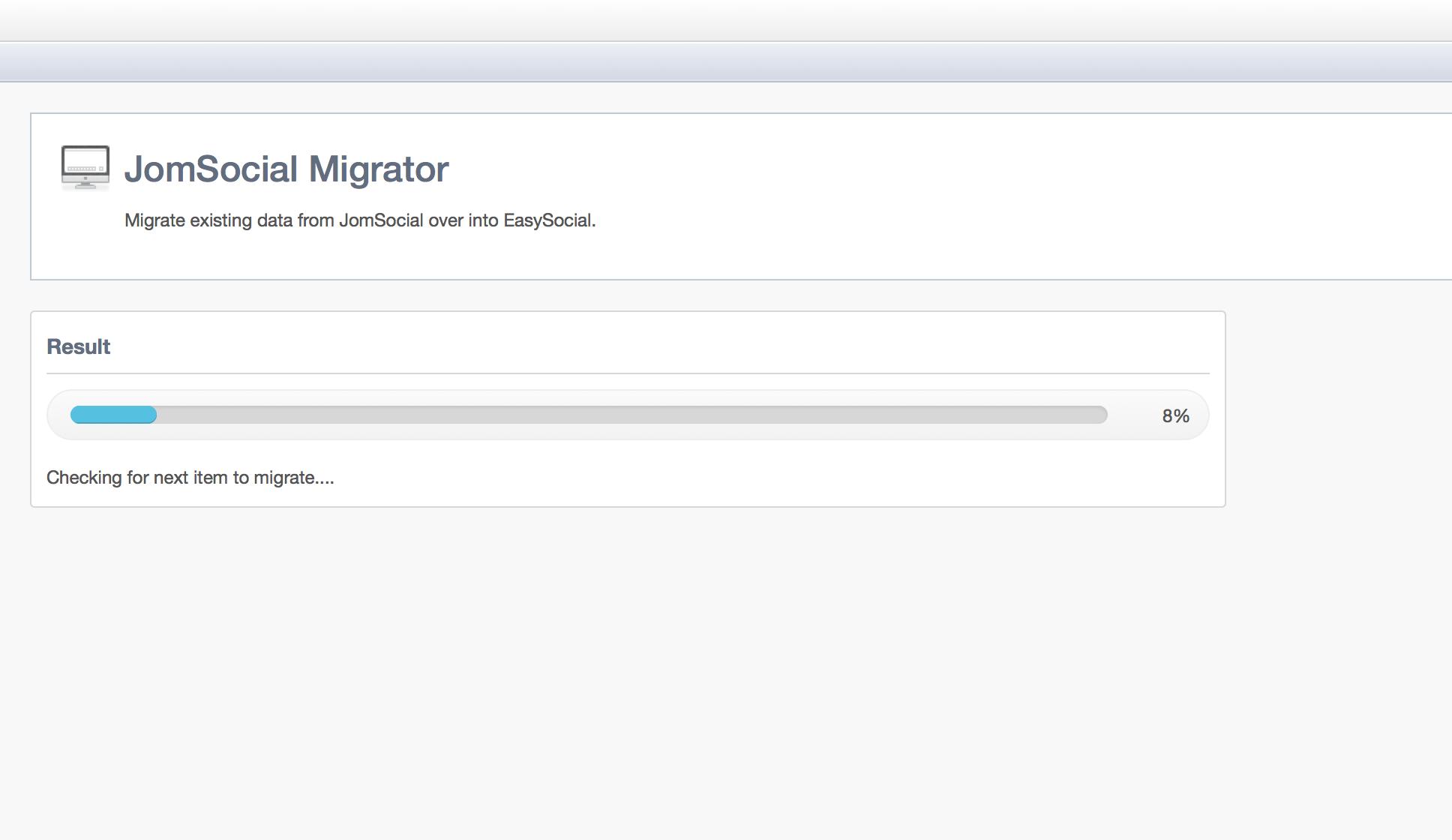 JomSocial User Migration Step 3