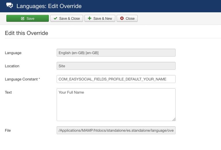 Translating Profile Custom Fields