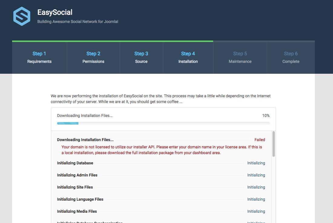 EasySocial Errors Messages
