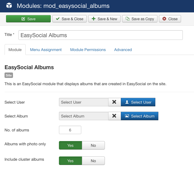 Albums Module