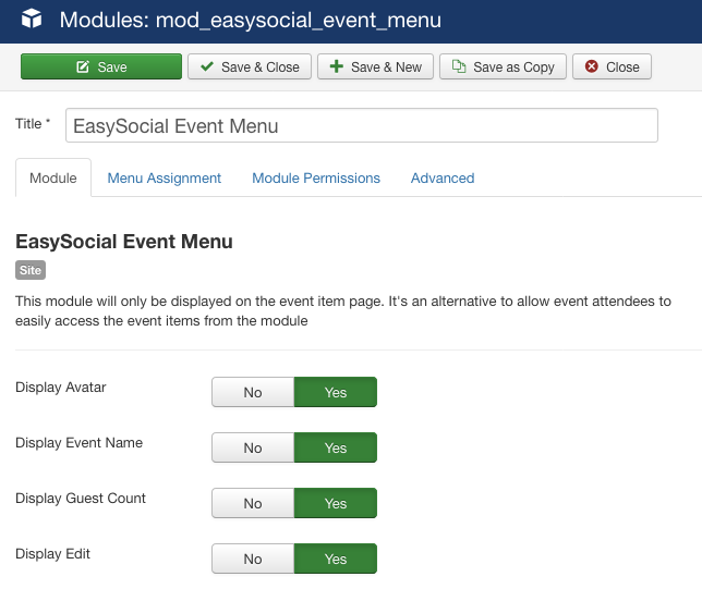 Event Module