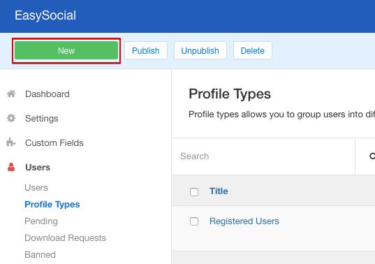 Managing Profiles