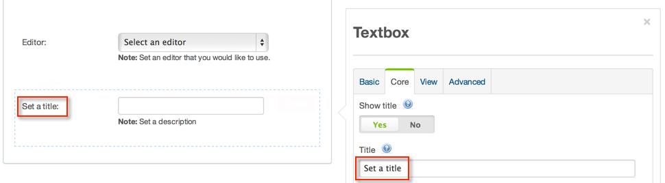 Title parameter's default value
