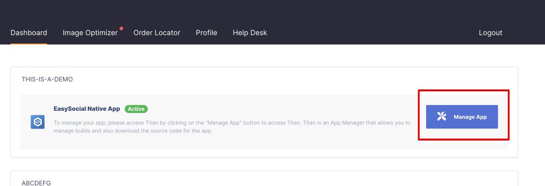 Manage App
