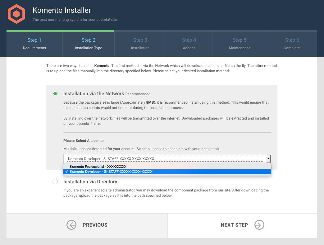 Installing Komento