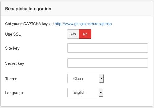 Recaptcha Integrations
