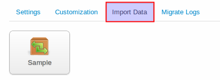 Import Sample data