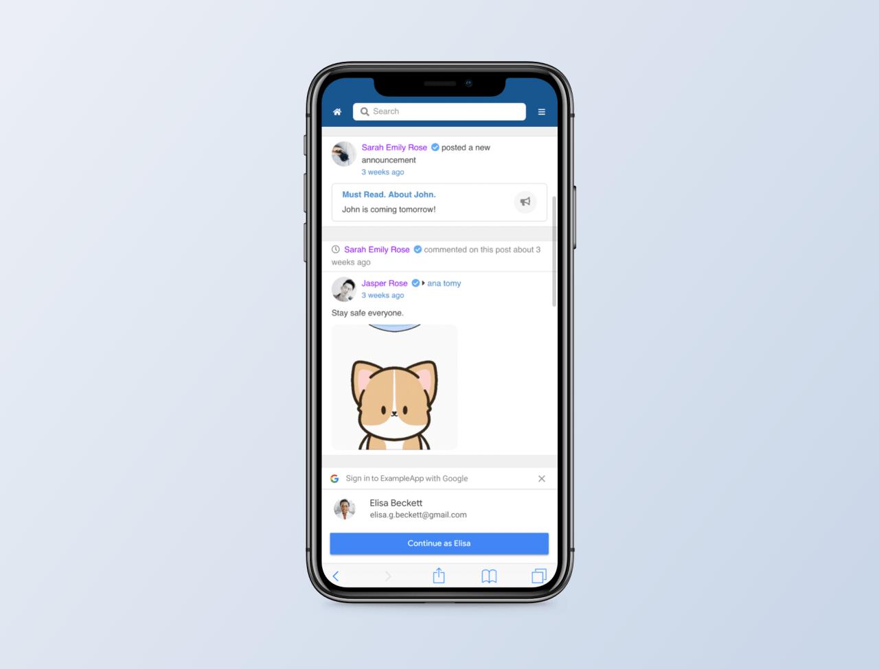 Google Onetap mobile for EasySocial Joomla
