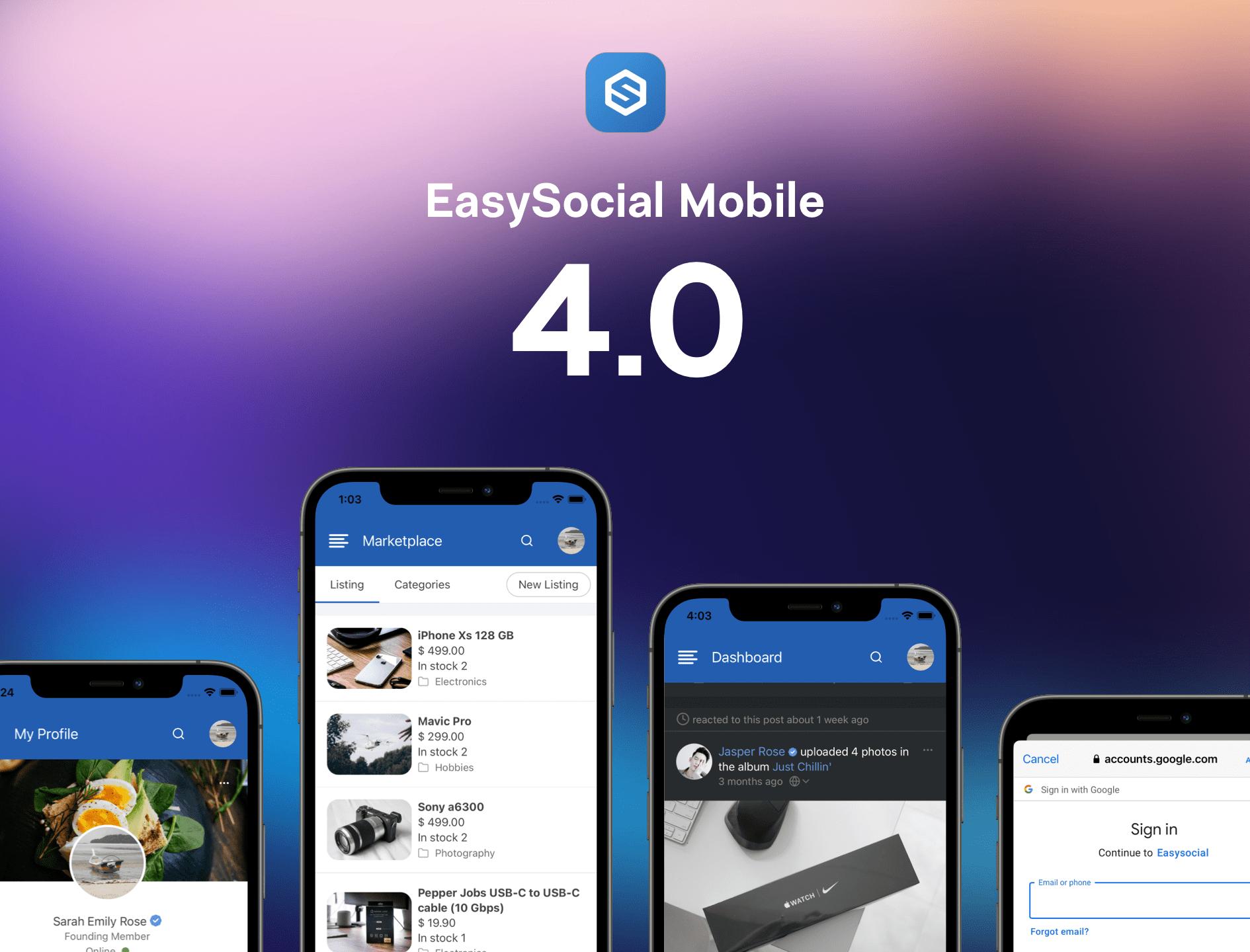 EasySocial Mobile App v4.1