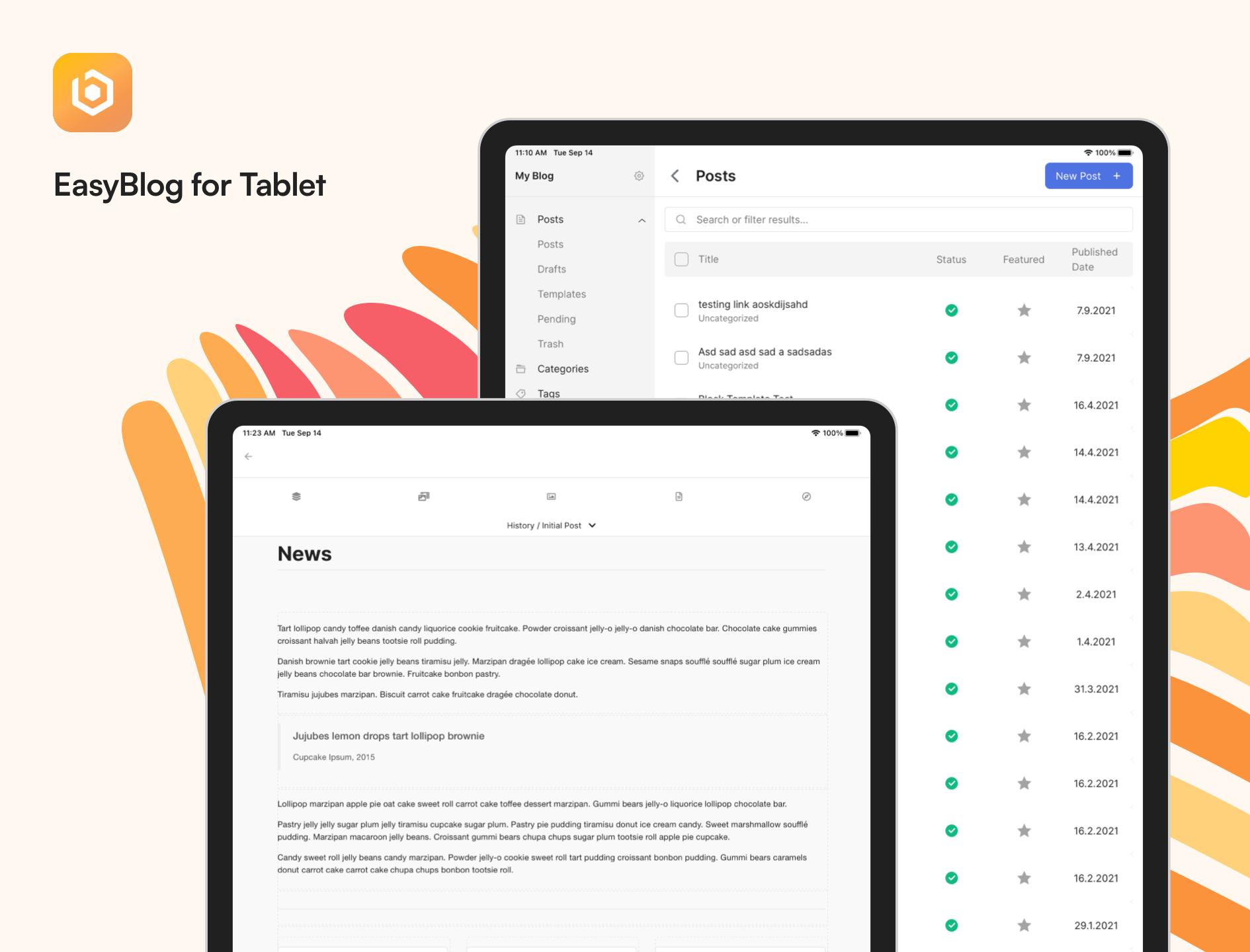 EasyBlog Tablet App
