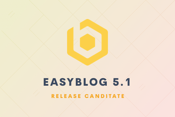 EasyBlog 5.1 RC release