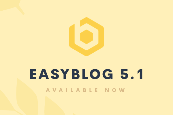EasyBlog 5.1 Stable Is Now Available