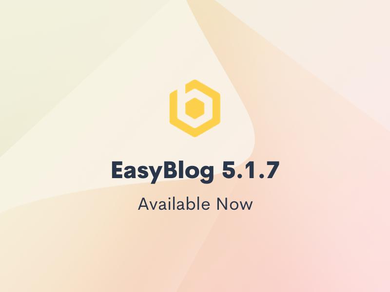 EasyBlog 5.1.7 Update