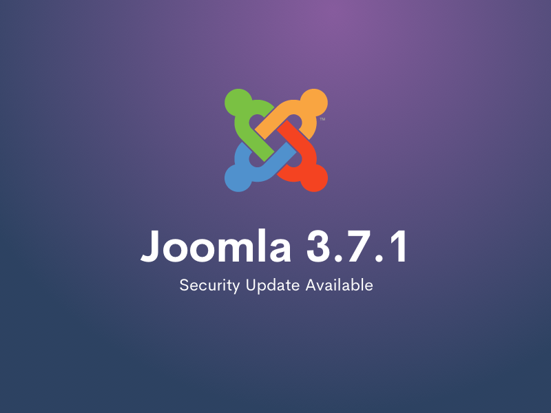 Joomla 3.7.1 Security Release Available