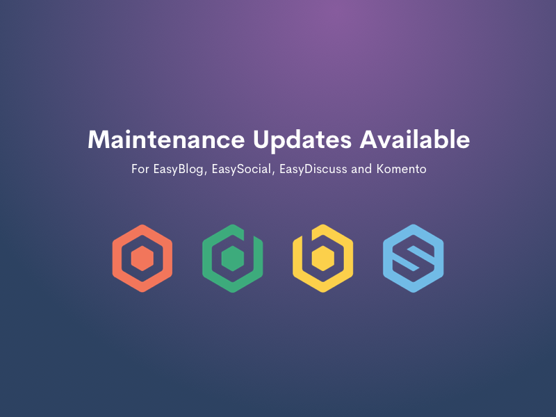 Updates available for our Joomla extensions