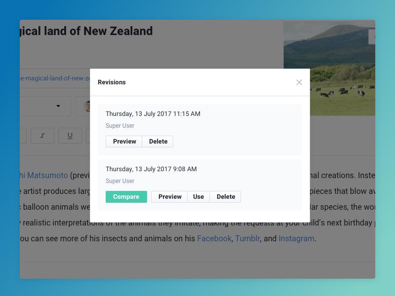 Joomla content versioning simplified