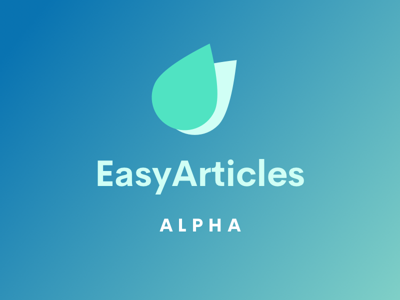 EasyArticles Alpha Released