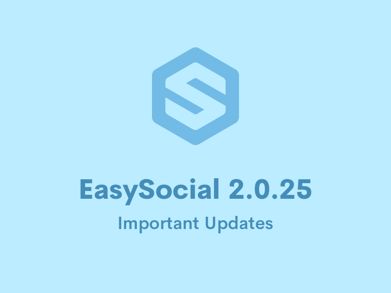 EasySocial 2.0.25 Released