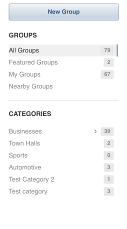 Navigate between subcategories