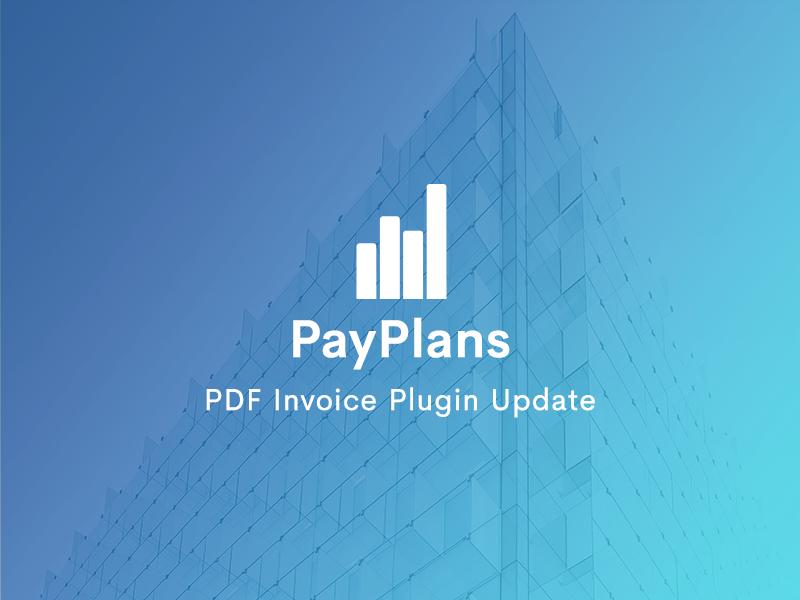 PDF Invoice Plugin Update