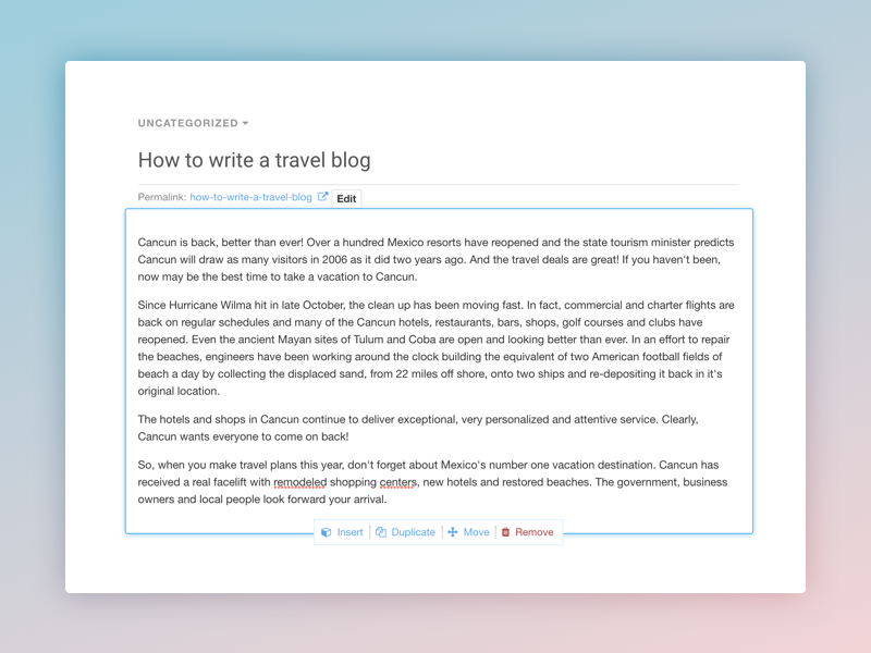 Refinements for EasyBlog Composer