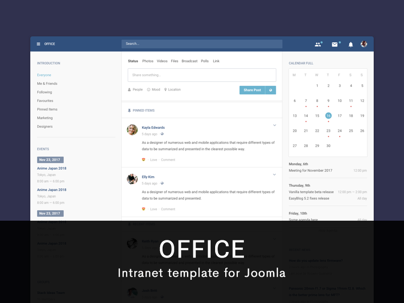 Office Template Live Demo