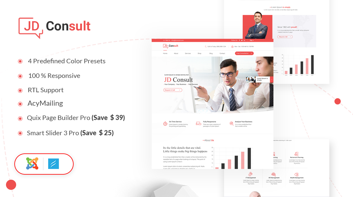JD Consult Template for EasyBlog